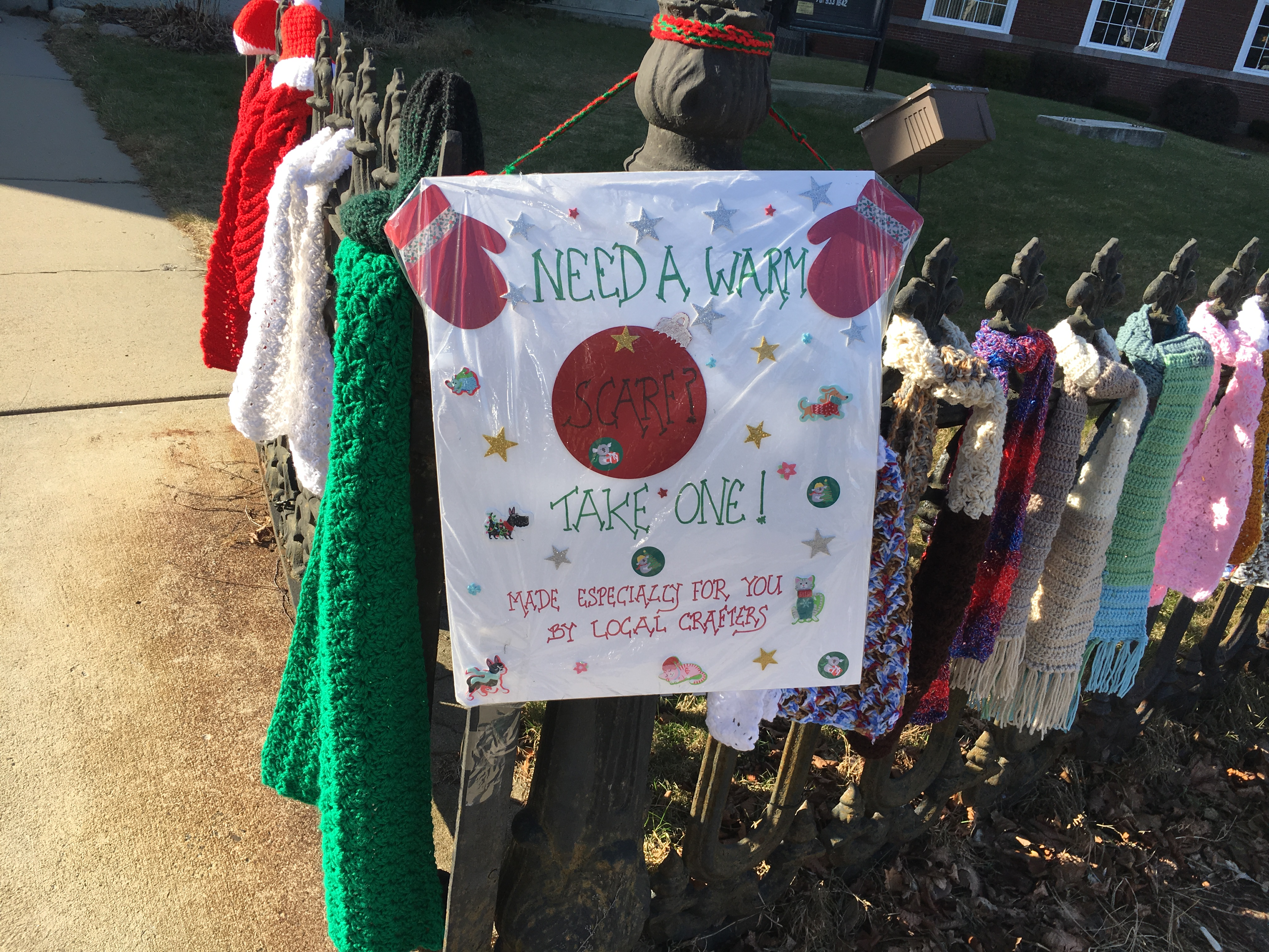scarves for the homeless First Church of Woburn